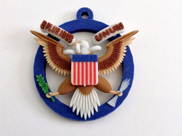 US Great Seal Emblem_Keychain 3d printed Front View