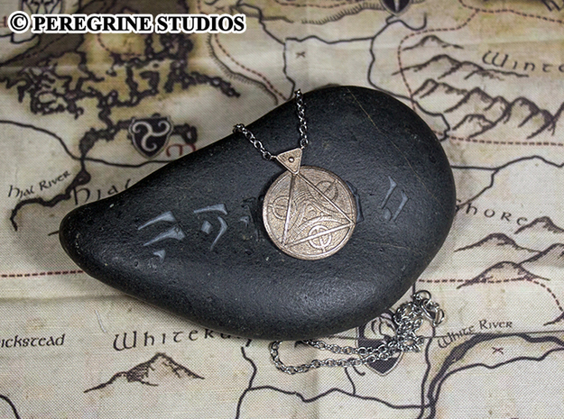 Pendant - Amulet of Julianos 3d printed Stainless Steel