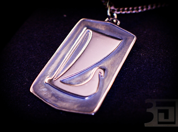 Lada Pendant 3d printed Silver Polished