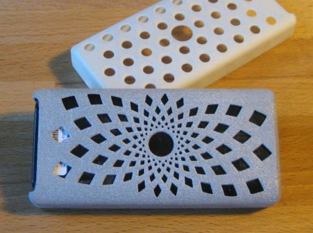 Brixometer Case - Sunflower 3d printed Brixometer Case - Sunflower pictured in Alumide with original in background