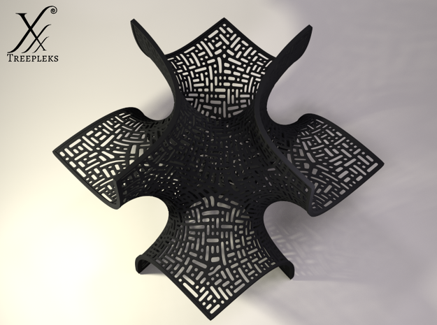 The Batwing Surface 3d printed Cycle render, top view.