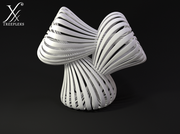 Triple Klein Bottle 3d printed Cycle render (side view).