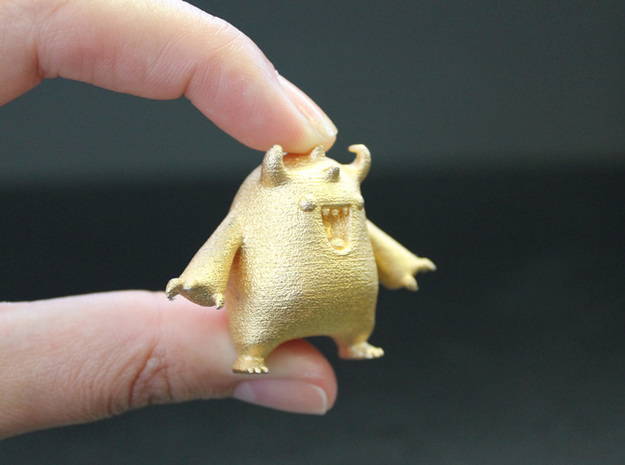 Barry the Thinker Thing test monster 3d printed I'm made of gold ;)