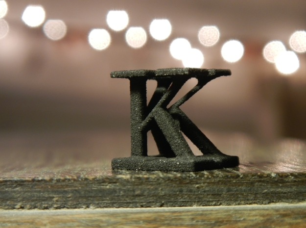Two way letter / initial K&K 3d printed