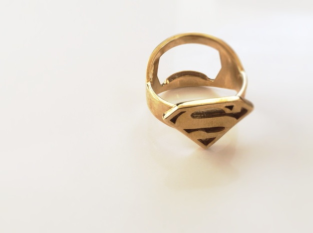Superman Ring - Bottle Opener band or regular 3d printed
