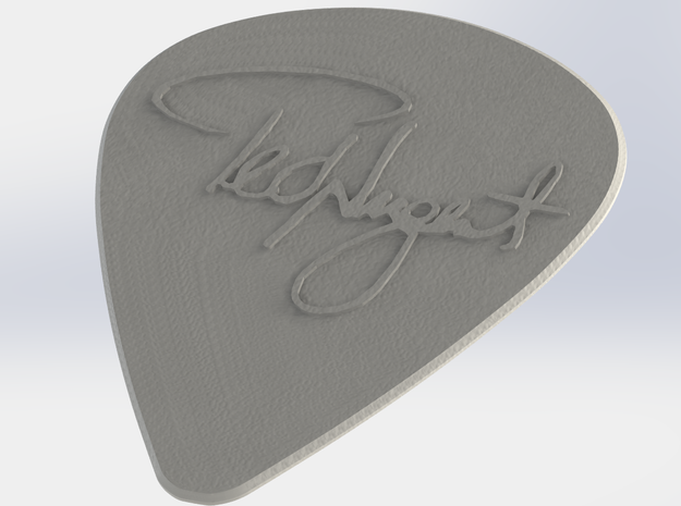 Ted Nugent Pick 3d printed The pick rendered in ABS Plastic
