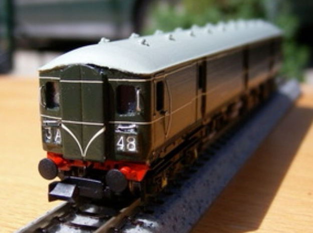 N Scale (1:148) Class 128 Gloucester Parcels Body 3d printed Model of Class 128 in British Railways Green painted by Bryan Howieson