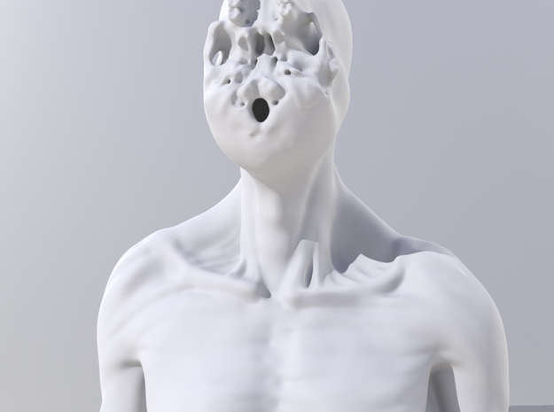 unSeen_Brother (left) 3d printed Modo render - unSeen_Brother_L