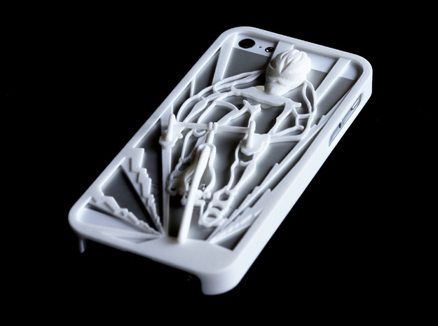 Muscular Cyclist iPhone 5/5s Case 3d printed Muscular Cyclist iPhone5/5s Case in white