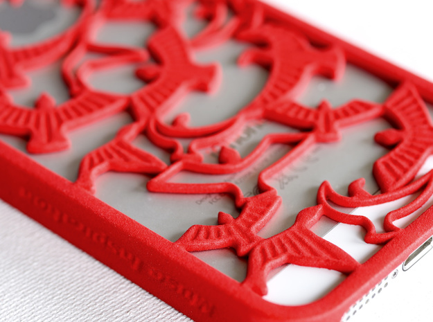 Birds Silhouette iPhone5/5s Case 3d printed detail of Birds Silhouette iPhone5/5s Case in coral red