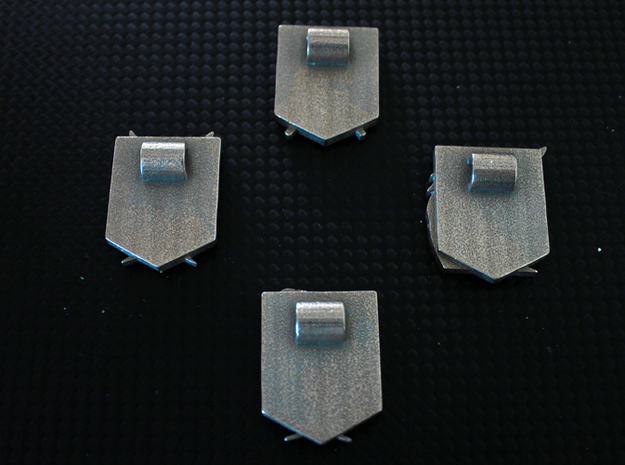 Attack On Titan Emblem - The Military Police 3d printed This shows the loops on the back of the emblems, for inserting a chain/cord or safety pin.NOTE: You only receive one emblem with this item.