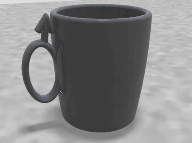 "Coffee Cup ""His"" 3d printed"