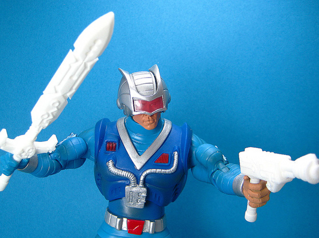 Cosmic Weapons Pack for MOTU and Similar Figures 3d printed