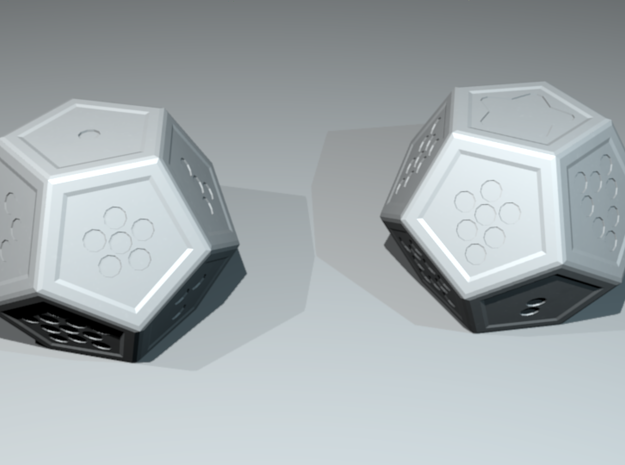 Star: Stylized d12 3d printed As rendered in Blender.