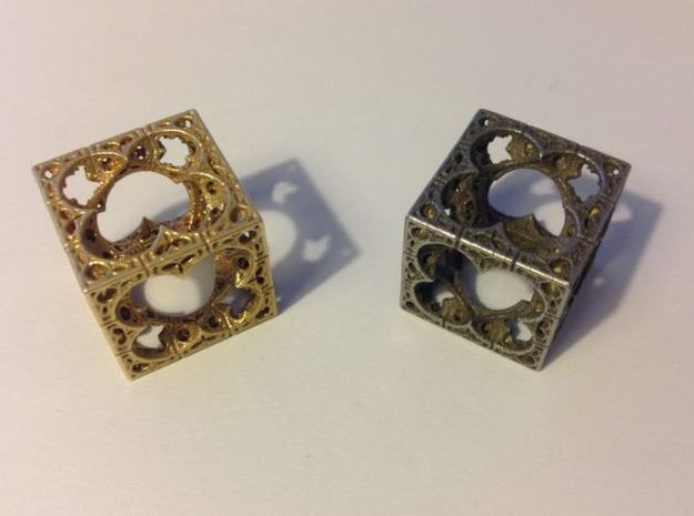 Mystic HyperMenger 2 3d printed Raw Brass and Stainless Steel