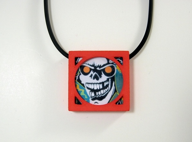 Wearable Gallery Picture Pendant 3d printed Wear street art!