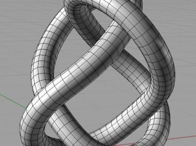 Figure 8 Knot 3d printed In Rhino 3d.