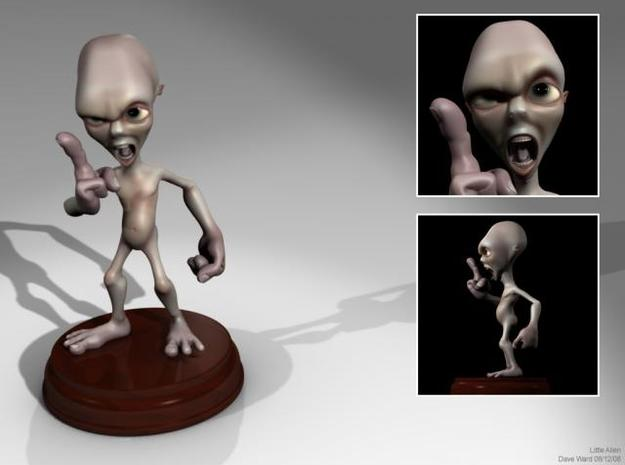 Angry Alien 3d printed Here's a render of the little guy, hopefully he'll look about the same when he's in the physical world :)