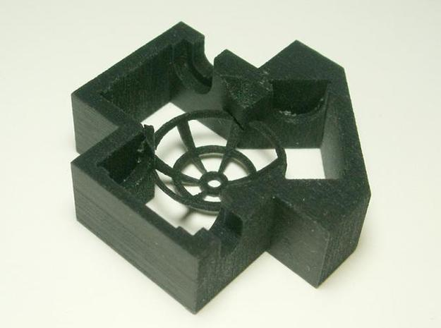 Trackball Assembly 3d printed Black detail, top
