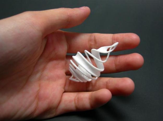 Spiral Cage 3d printed 3D printed SWF spiral cage in hand