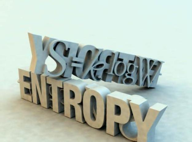 entropy formula 3d printed Description