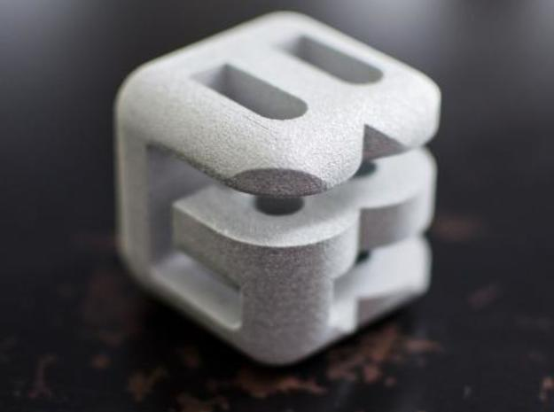 G E B lower (4x4x4) 3d printed Alumide