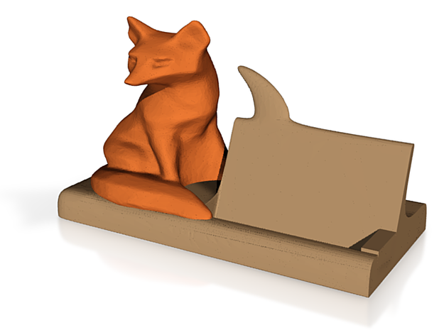 Fox Bussiness Card Holder 3d printed