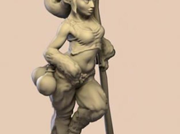 elven healer 39mm miniature 3d printed Description