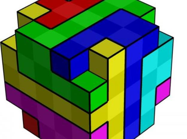 Visible Cube 3d printed solved state