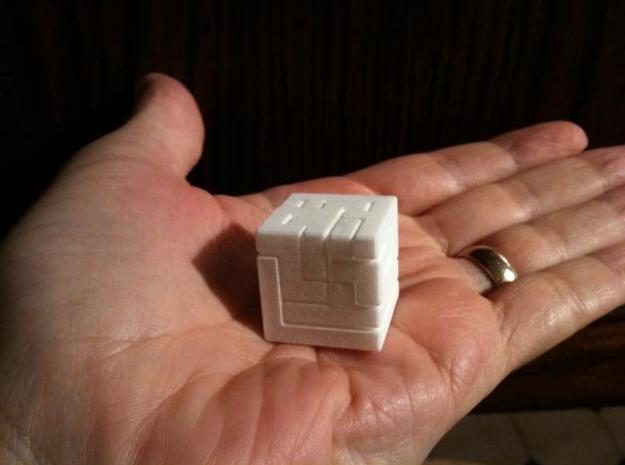 Switch Cube (2.4 cm) 3d printed 2.4 cm Switch Cube on palm