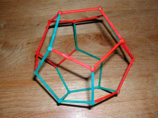 Lefthand piece dodecahedral puzzle 3d printed Completed puzzle