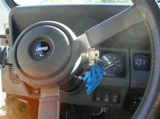 3A racing Team 3d printed keyring jeep
