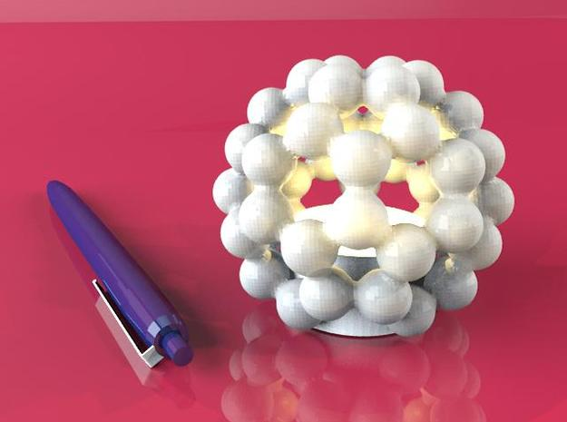C60 - Buckyball - Smart Candle Small 3d printed Rendered with Yafaray