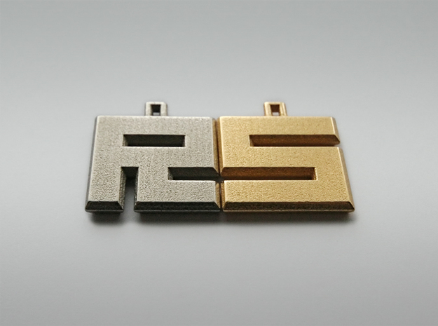 ABC Pendant - Z/2 Type - Wire - 24x24x3 mm 3d printed