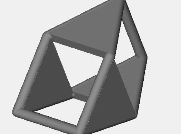 d4 double prism blank 3d printed Description