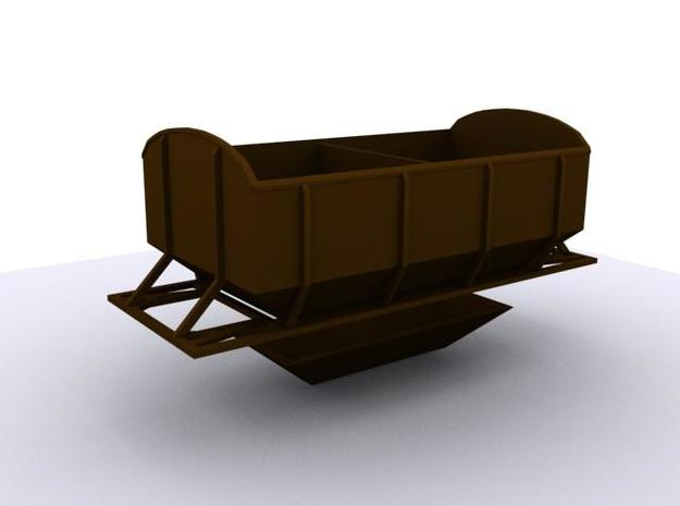 CIE Ballast Hopper OO Gauge 3d printed Render of Hopper Model
