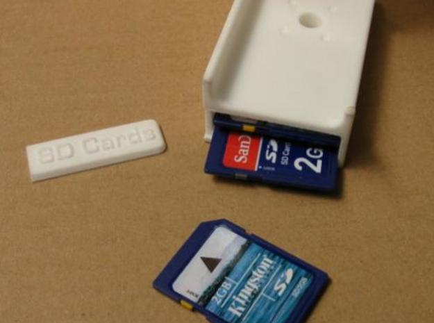 Z-Bracket Kit 2 3d printed Compartment in lower base for spare SD cards