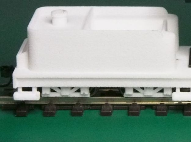 Small 8 wheel Tender for HOn30 F&C loco, ver.B 3d printed This is what you get (the white bits)