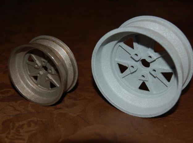 Fuchs wheel - 15x7 - 80mm Diameter 3d printed Back view - Stainless steel and alumide