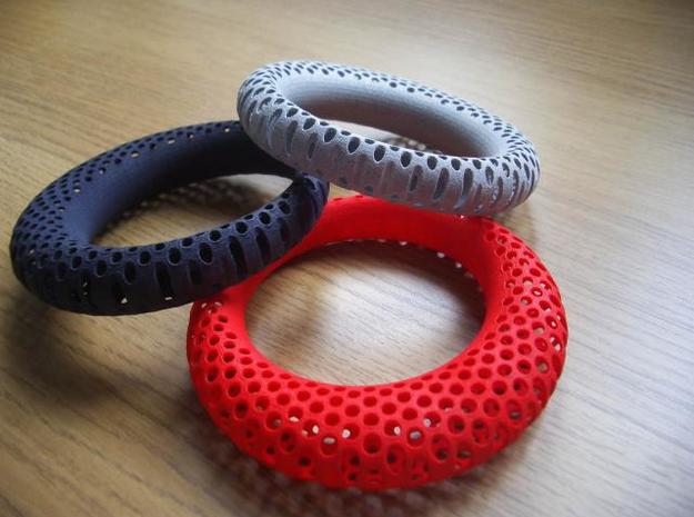 Polyoptic Bangle 3d printed colourful