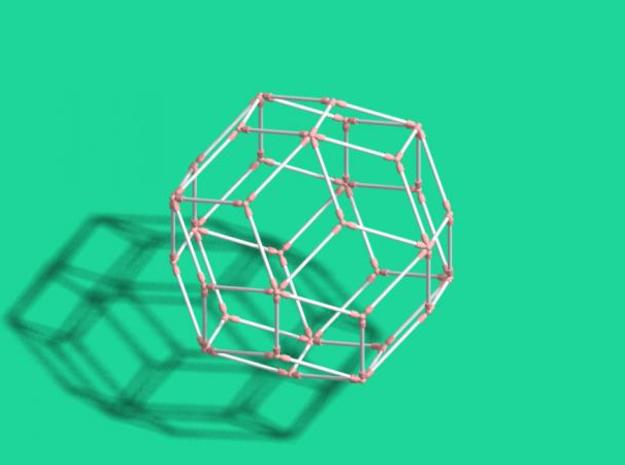 Rhombic Triacontahedron 3d printed Description