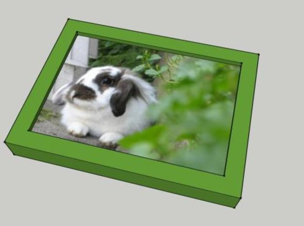 Picture Frame Nijntje 3d printed Screenshot from SketchUp