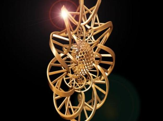 DNA FLOWER PENDANT 3d printed Fig. F