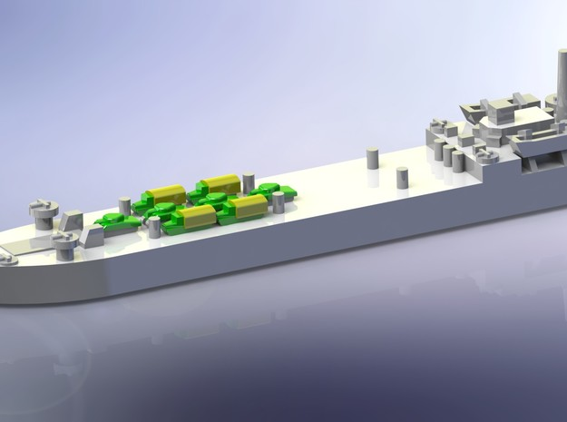 LST-906 & 3 x LST 542 Type LST 1/1800 3d printed Add a caption...