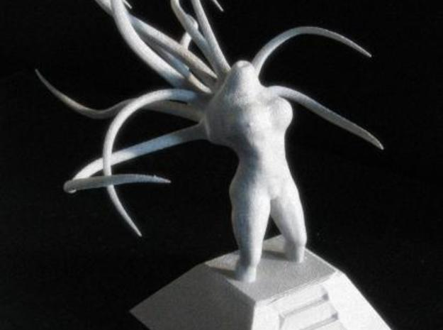 Alien Goddess - Large Version 3d printed Side view of Alien Goddess in alumide under natural lighting.