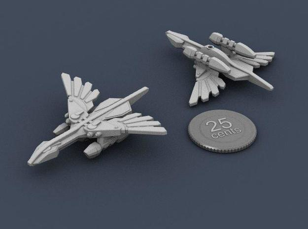 Murustan Basilisk class Destroyer 3d printed Renders of the model, with a virtual quarter for scale.