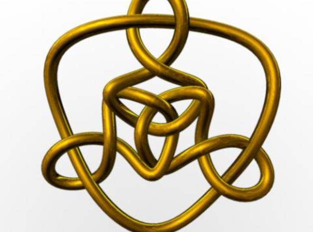 Celtic Knots 01 3d printed Rendered in gold with Maya.