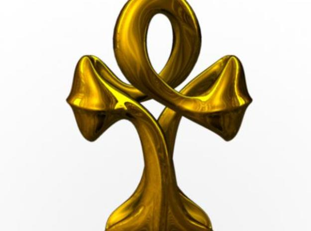 Ankh - small 3d printed Rendered in gold with Maya.