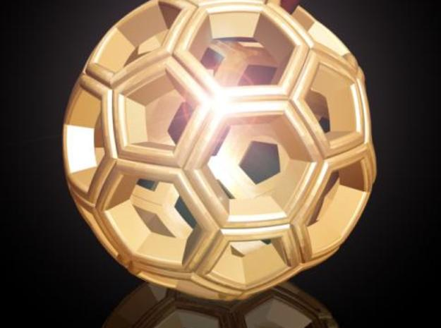Soccer Ball Pendant 3d printed Description