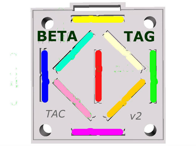 BETATAG Tactical v3 IFF Tritium Vial Holder 3d printed Simulated color trits
